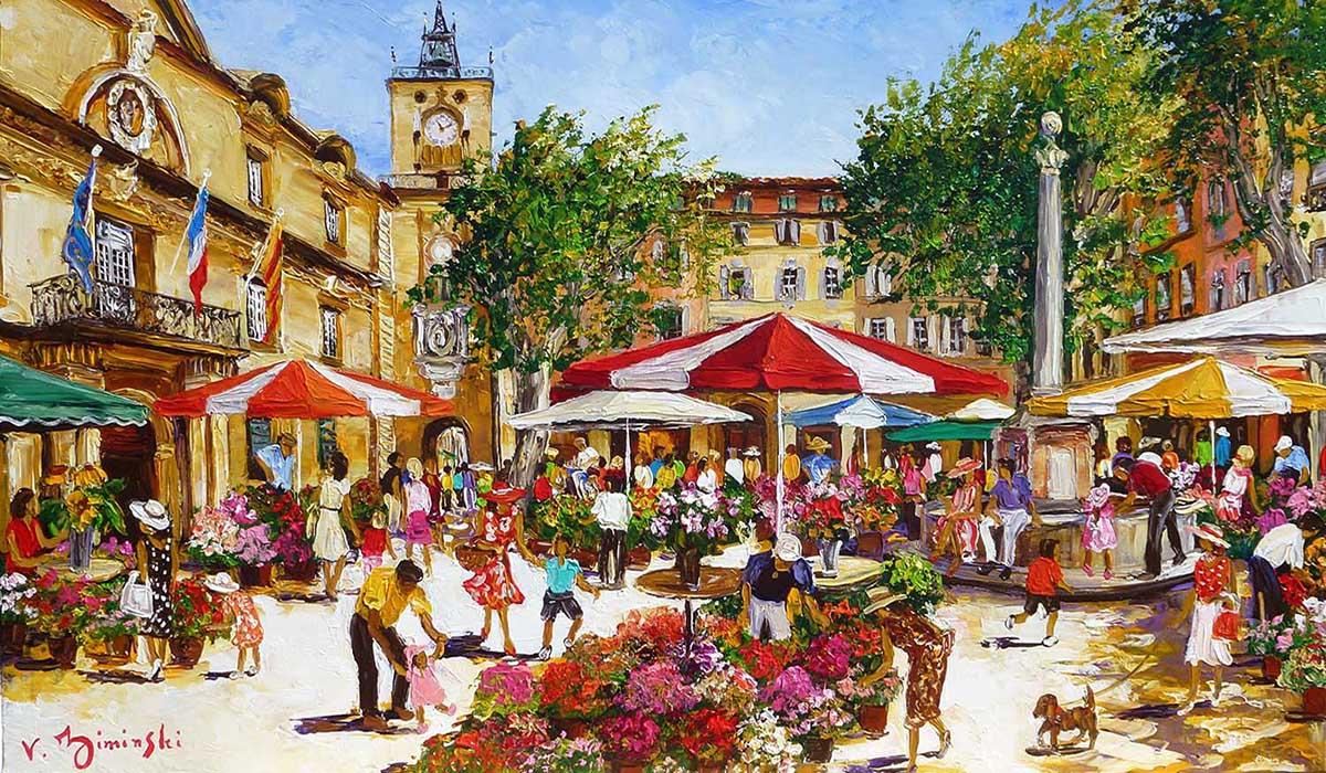 The market of Aix en Provence - Véronique Ziminski