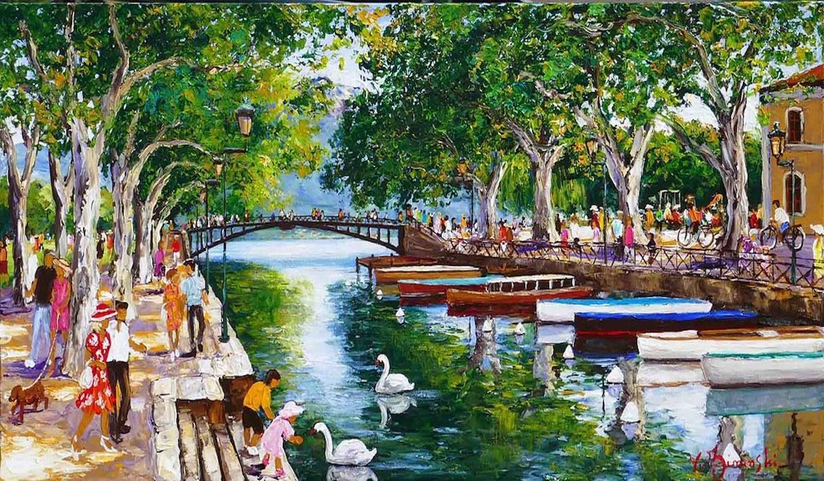 Annecy, the canal du Vassé - Véronique Ziminski